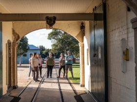 Group tour at Newington Armory Visitor Centre