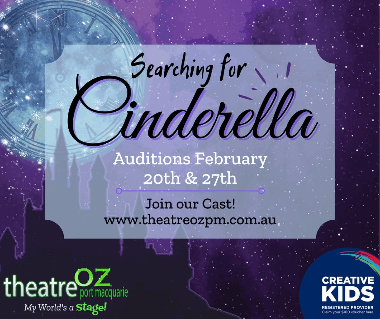 Cinderella audition graphic
