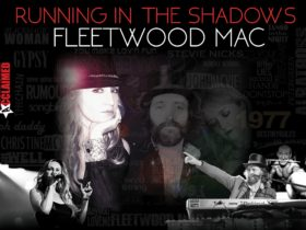 Text that reads Running in the Shadows - Fleetwood Mac