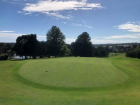 9th green view from in front of the Clu