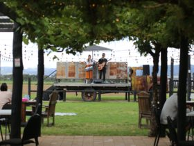 The rusty truck stage at Augustine