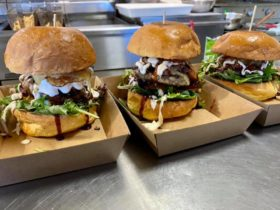 Burgers ready to be eaten