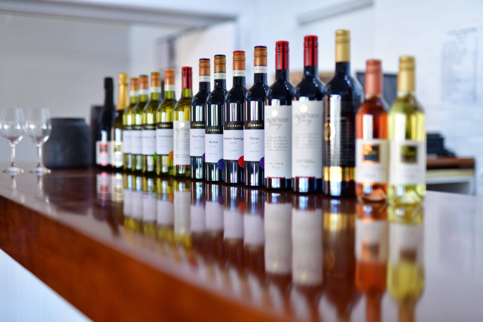 The Gooree Park Wine Selection Line up