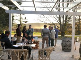 our outdoor tasting area