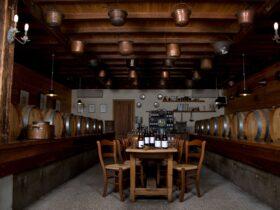 Cellar Door displaying all wines and barrels