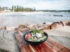 Poke Bowl at The Point Cafe Avoca Beach NSW