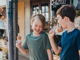 Handmade ice cream at True Cafe and Chocolate