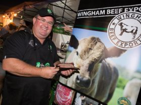 Grant Coleman with Award Winning Wingham Beef