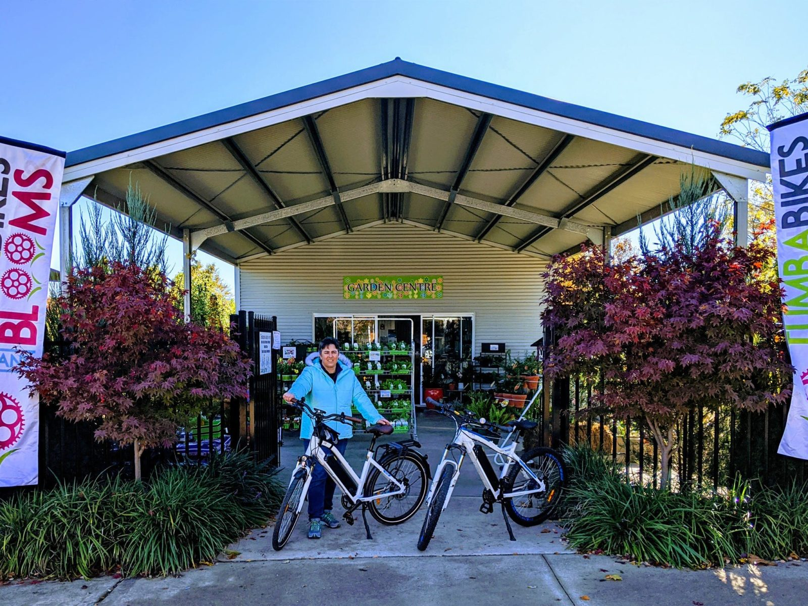 Tumba Bikes and Blooms front