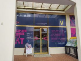 Entrance to Parramatta Heritage and Visitor Information Centre