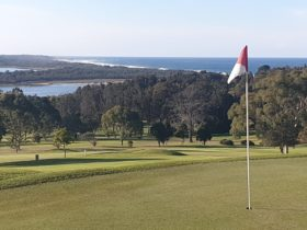 4th green has wonderful views over the inlet