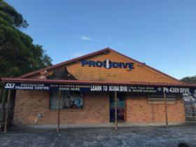 Pro-Dive central Coast Shopfront