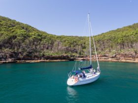 Anchored just off Boudii National Park