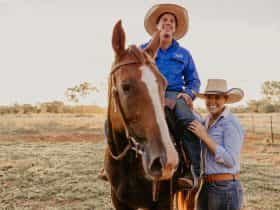 Tom and Annabel Curtain owners of Katherine Outback Experience provide horse riding experiences