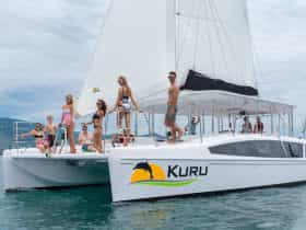This photo shows Kuru, our signature vesselsailing in Vietnam prior to sailing to Darwin