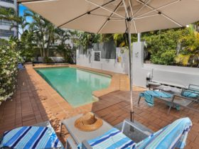 relax by our heated pool