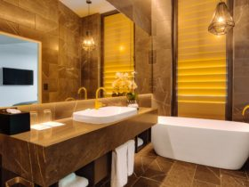 The Signature Sky Penthouse features 2 luxurious bathrooms