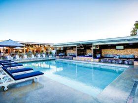 Rambutan's centralised rooftop pool, bar & restaurant area