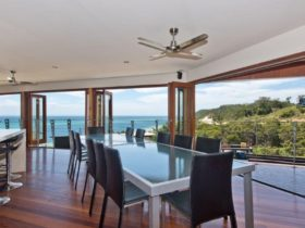 Entertainment Level - Open Plan Kitchen, Dining, Lounge, Deck