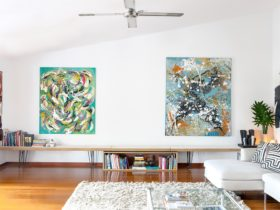 large paintings by Svein Koningen