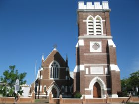 photo showing main hall and bell tower of St Pauls Anglican Church