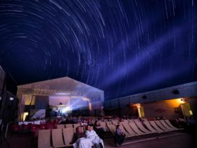 Movies under the outback stars