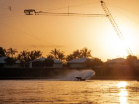 sunrise, wakeboarding, Mackay, Queensland, action sports
