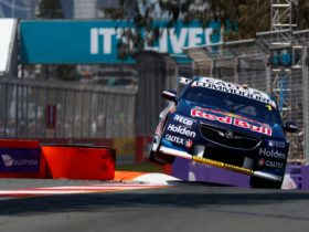 Supercars racing on the Gold Coast