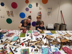 Participants of Family Sundays at the Gallery, at RAG, Cleveland in 2020. Courtesy of the participan