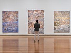Mavis Ngallametta installation view