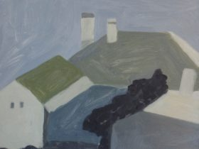 Neridah Stockley, Back of a house (detail) 2014, oil on hardboard. 30 x 25cm. Courtesy of the artist