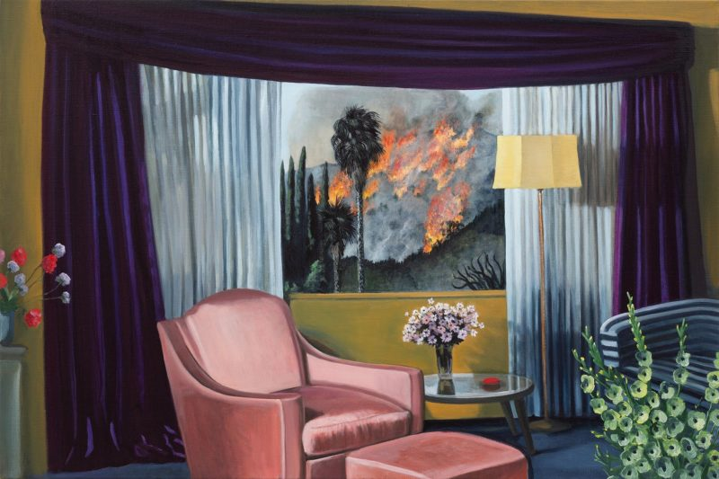 Anne Wallace, 'Fire in the Hills', 2019, oil on linen, 61.4 x 92 cm.