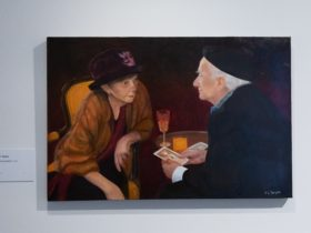 Image credit: 2020 overall winner, Lynn Taylor, A conversation, 2020. Oil on canvas. Courtesy of the