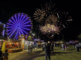 The much loved Redland Strawberry Festival Fireworks Display