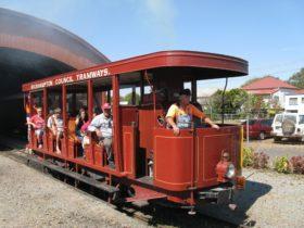 Riding the Purrey Steam Tram