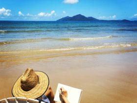 Tropical beach journaling