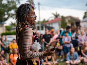 An opening ceremony tradition started by Wynnum Fringe and Quandamooka Festival