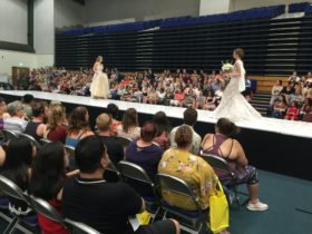 Large Crowds watching the Designer Fashion Parades at Your Local Wedding Guide Toowoomba Expo