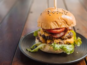 Double patty and cheese pineapple bacon lettuce tomato and special sauce