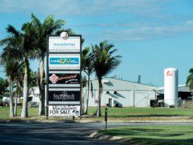 Drive way entry into Macadamias Australia Home Farm.