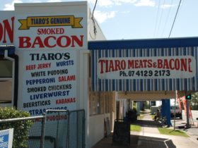 photo of facade signage of Tiaro Meats and Bacon