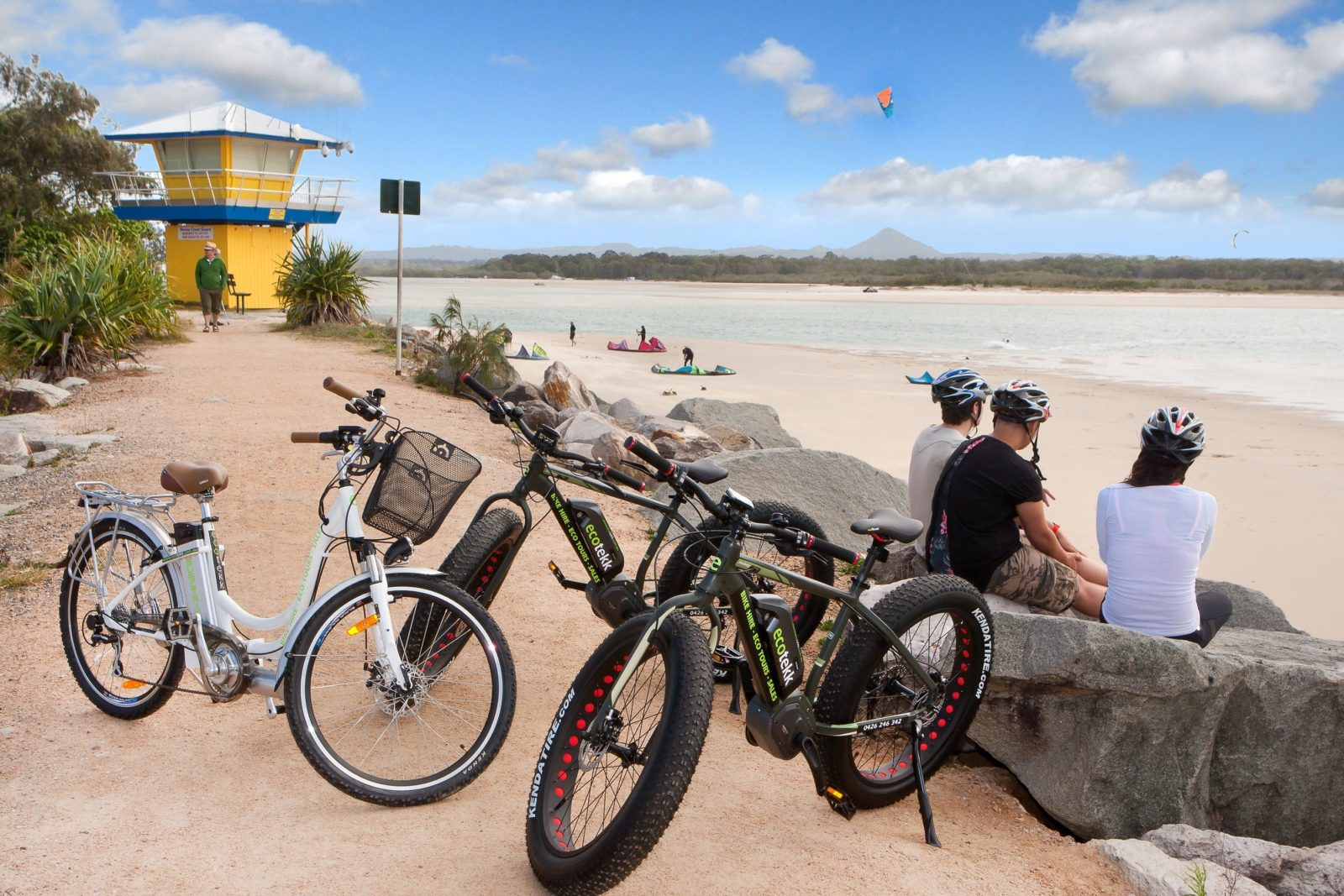 At the Noosa River mouth looking across to Noosa North Shore