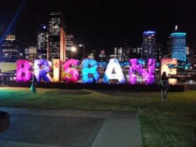 Brisbane at night from Southbank