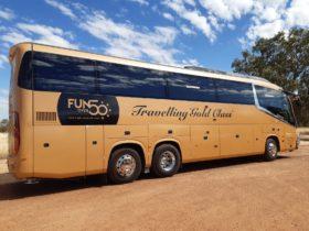 Fun Over Fifty signature `Gold Class' coach