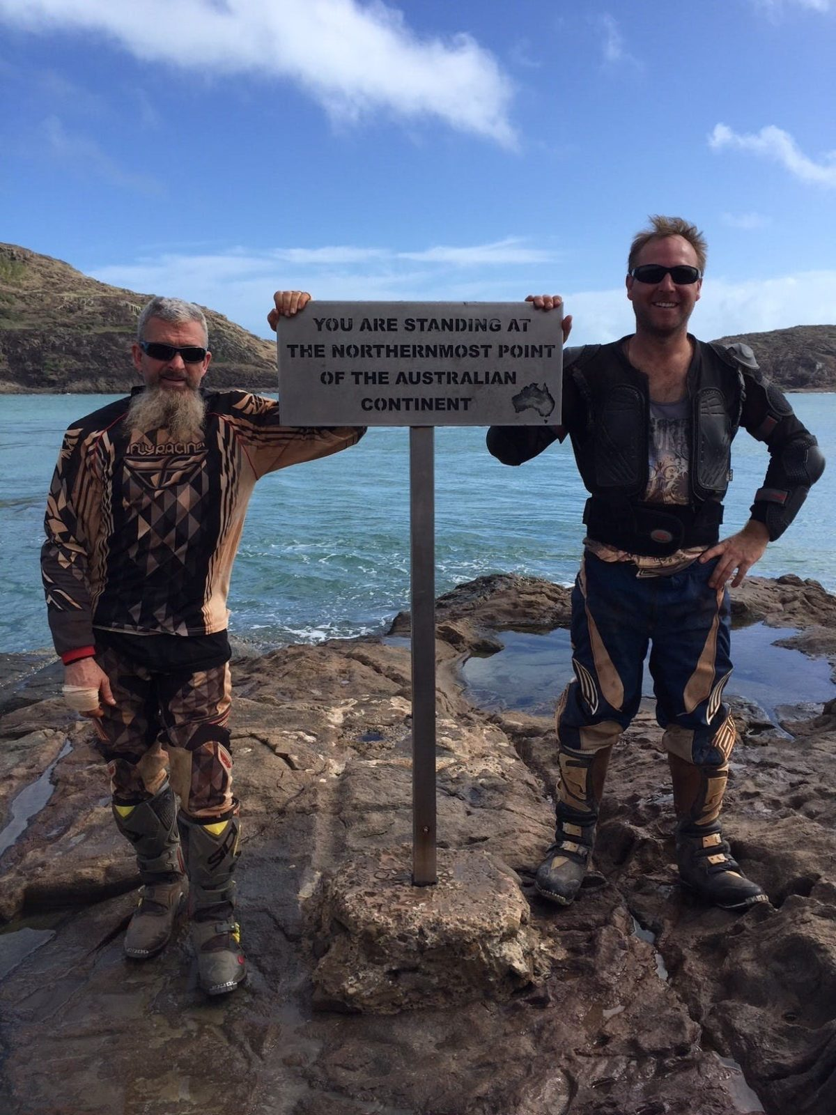 The joy experience when reaching the most Northern point of Australia after an adventurous few days