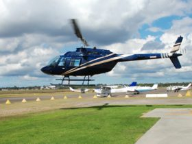 Utility Helicopters scenic flight getting airborne