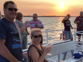 Sunset cruise, canapes, wine, friends, music a