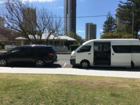 Two vehicles of our fleet doing a private day tour