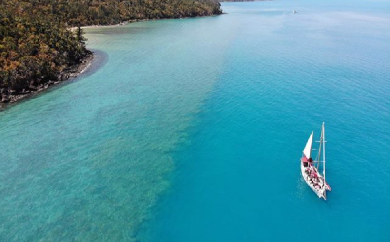 Snorkel coral reefs of the Whitsunday Islands with Lady Enid Sailing