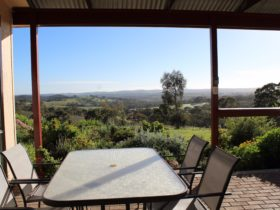 Clare View COTTAGE - View from outdoor area. Very private farm let setting.